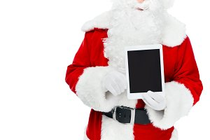 cropped view of santa claus showing