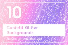 10 Confetti Glitter Backgrounds