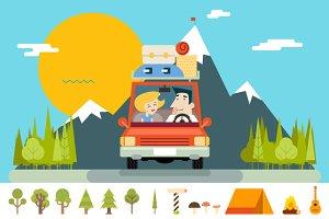 Car Family Road Trip