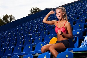 Sporty fitness young woman