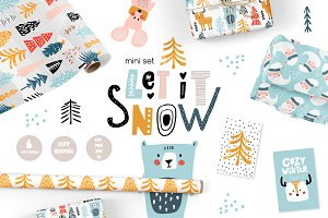 Let in snow. Winter mini set