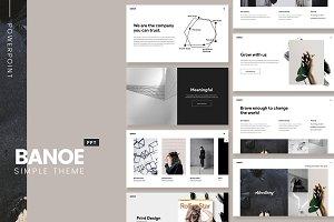 BANOE - Modern Powerpoint Template