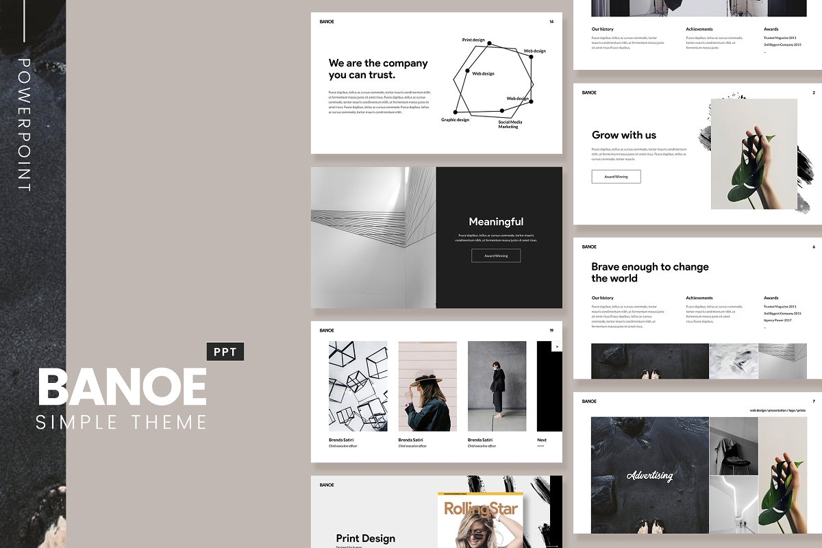 Banoe Modern Powerpoint Template Powerpoint Templates