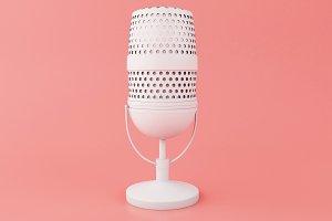 3d Retro a microphone