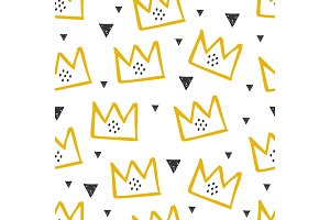 Pattern with yellow crown