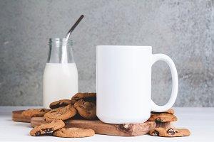 Cookies & Milk Mug Mockup