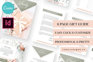 Lovely Gift Guide Holiday Canva