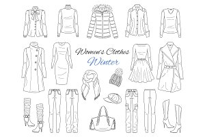 Women s clothes collection.