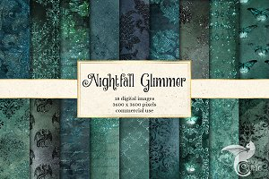 Nightfall Glimmer Digital Paper
