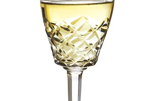 Wine glass, crystal, white wine, whi