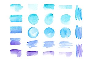 Colorful vector watercolor brush