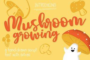 Mushroom Growing Script Font