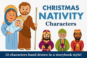 Christmas Nativity Characters Set