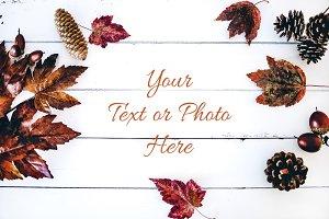 Fall Flat Lay 1 - Styled Stock Photo