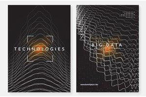 Visualization background. Technology