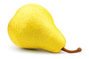 Fresh yellow pear isolated on white