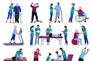 Physiotherapy rehabilitation set