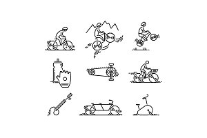 Bicycle. Bike types icon vector