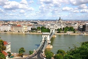 Budapest view from Castle Hill