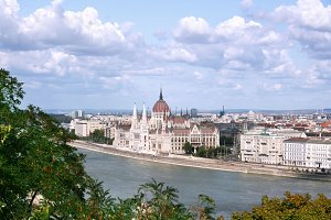 Hungarian Parliament view. Budapest