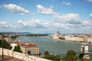 Budapest across the Danube river