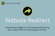Website Redirect Adobe Muse Widget