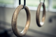 Gymnastic Rings At Fitness Facility by  in Sports