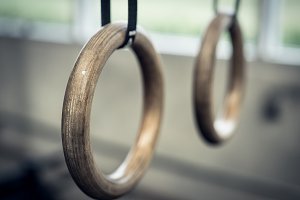 Gymnastic Rings At Fitness Facility