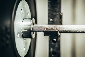 Barbell On A Squat Rack