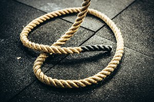 Climbing Rope For Crossfit At A Gym