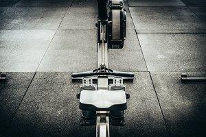 Rower Machine On A Gym Floor