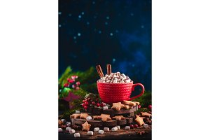 Christmas hot chocolate with