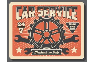 Car auto parts, mechanic service