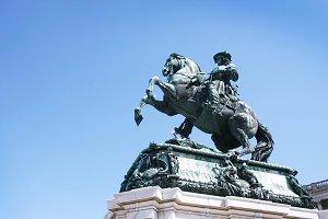 Franz Joseph I  statue in Vienna