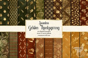 Thanksgiving Digital Paper Patterns