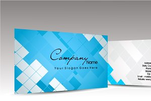 Vector Blue Color Business Card