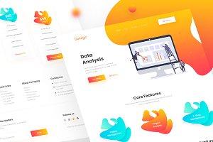 Data Analysis Landing Page