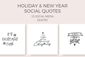 Holiday Social Quotes (15 Images)