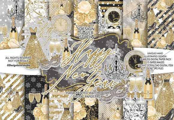 happy new year gold dp pack patterns
