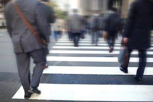 Blurred Business People Walking