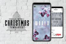 Social Media Christmas PSD Templates
