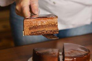 Prague mousse cake. Cooking