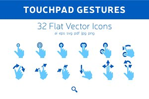Touchpad Gestures Icons
