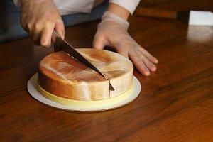 Esterhazy mousse cake. Cooking