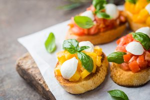 Traditional italian Bruschetta
