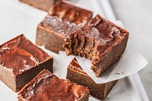 Raw Vegan Chocolate Cake Slices
