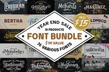 76 Fonts in 1 Font Collection
