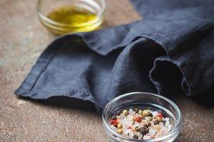 Seasonings for cooking.