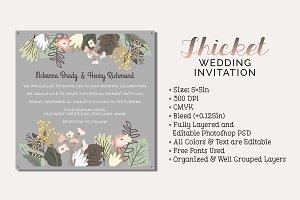 Thicket Wedding Invitation