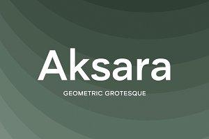 Aksara – Geometric Font Family